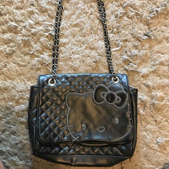 ef43057f4a Hello Kitty Handbags - Black hello kitty handbag